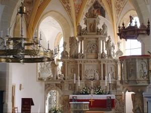 der Altar der Stadtkirche Lauenstein - Foto: Katrin Küttner